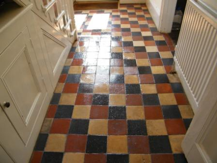 Quarry Tiled Hallway After