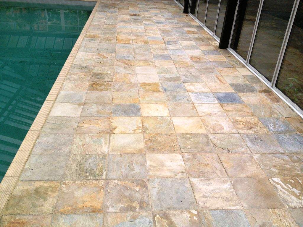 Indian Sandstone Pool Surround After Cleaning