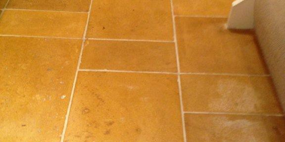 Limestone Tiled Floor Maintained in Chipping Norton Holiday Cottage