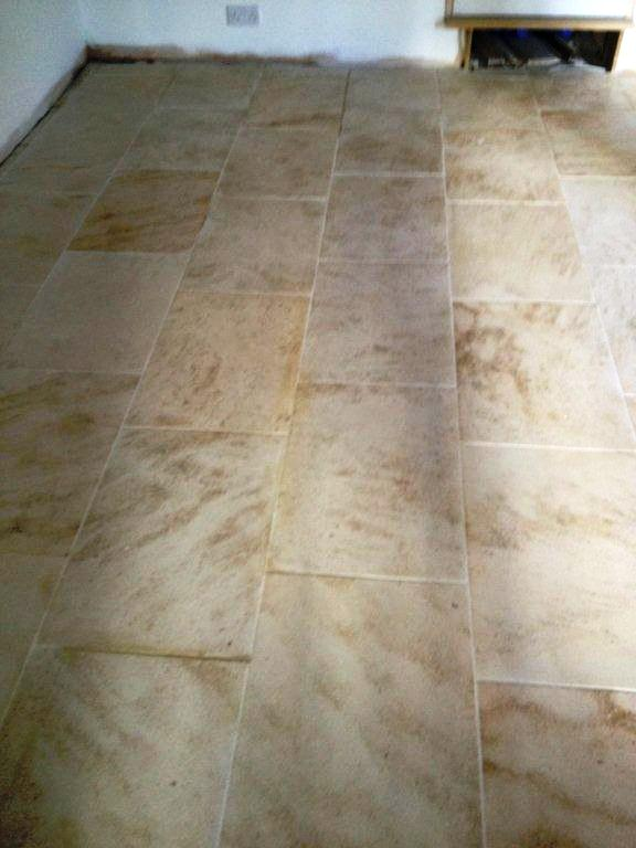 Ruined Limestone Tiled Floor Restored in Banbury
