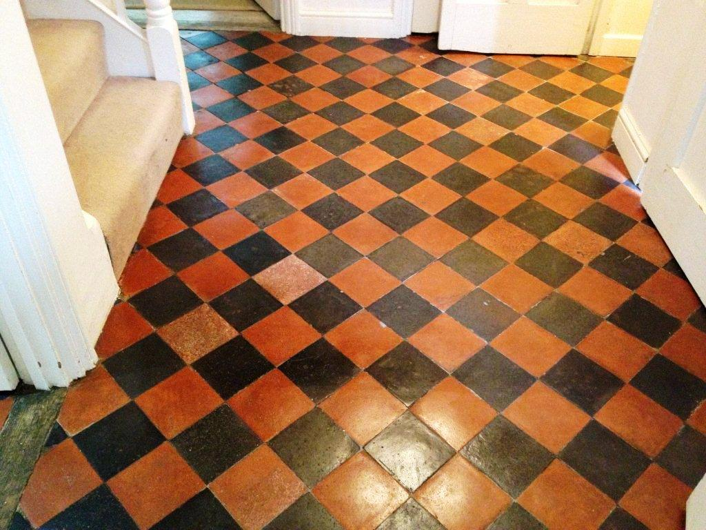 Victorian Quarry Tiled Floor after Restoration in Oxford