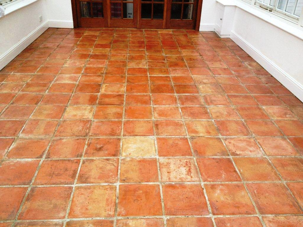 Tackling stained terracotta tiles in a conservatory stone abused terracotta conservatory tiled floor kidlington after dailygadgetfo Choice Image