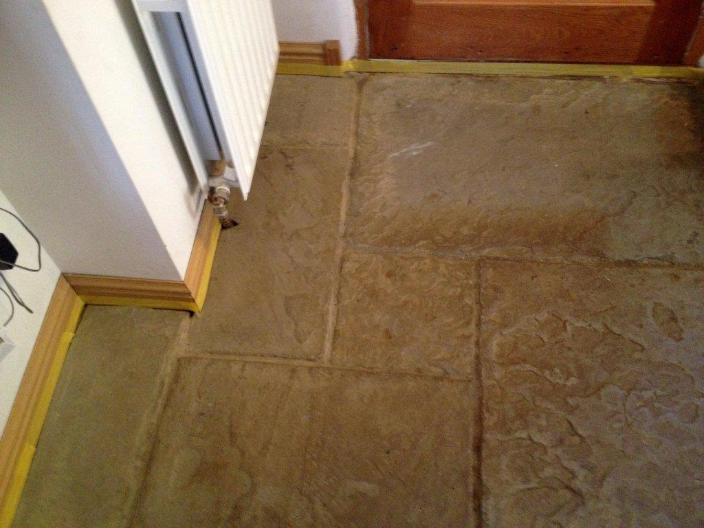 Banbury Slate Flagstone Tiles Before Cleaning