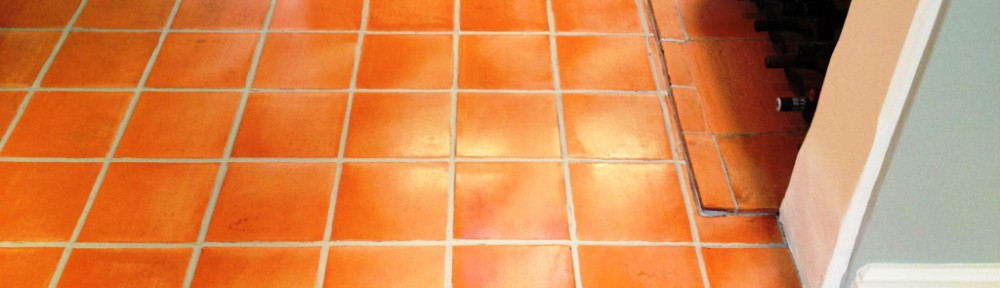 Terracotta Tiled Kitchen Floor Cleaned and Sealed in Thame