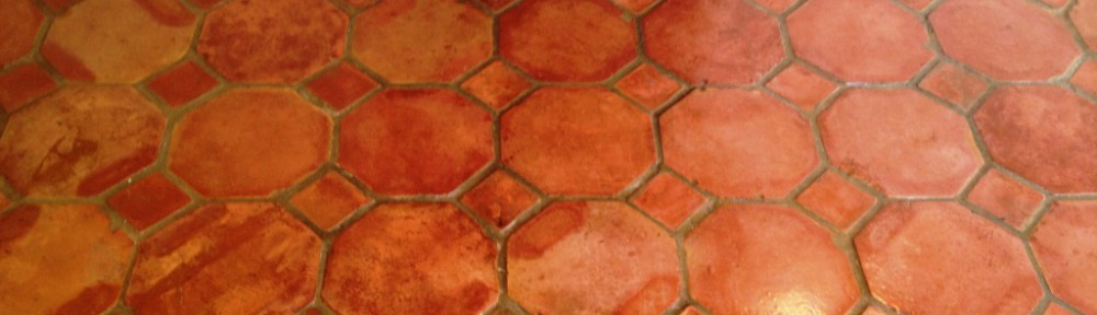 Terracotta Tiled Floor Cleaned and Sealed in Great Bourton
