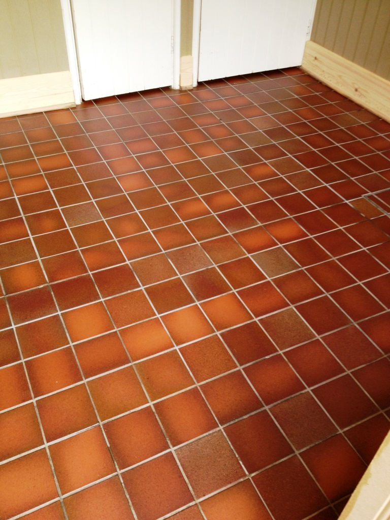 Quarry Tiles After Cleaning in Watlington