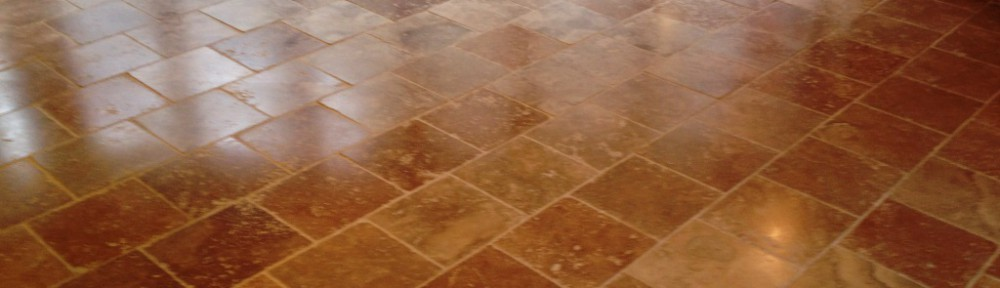 Grout Haze removed from Travertine Tiles in Henley-on-Thames