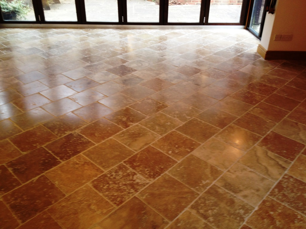 Travertine Tiled Floor After Cleaning Henleyon Thames