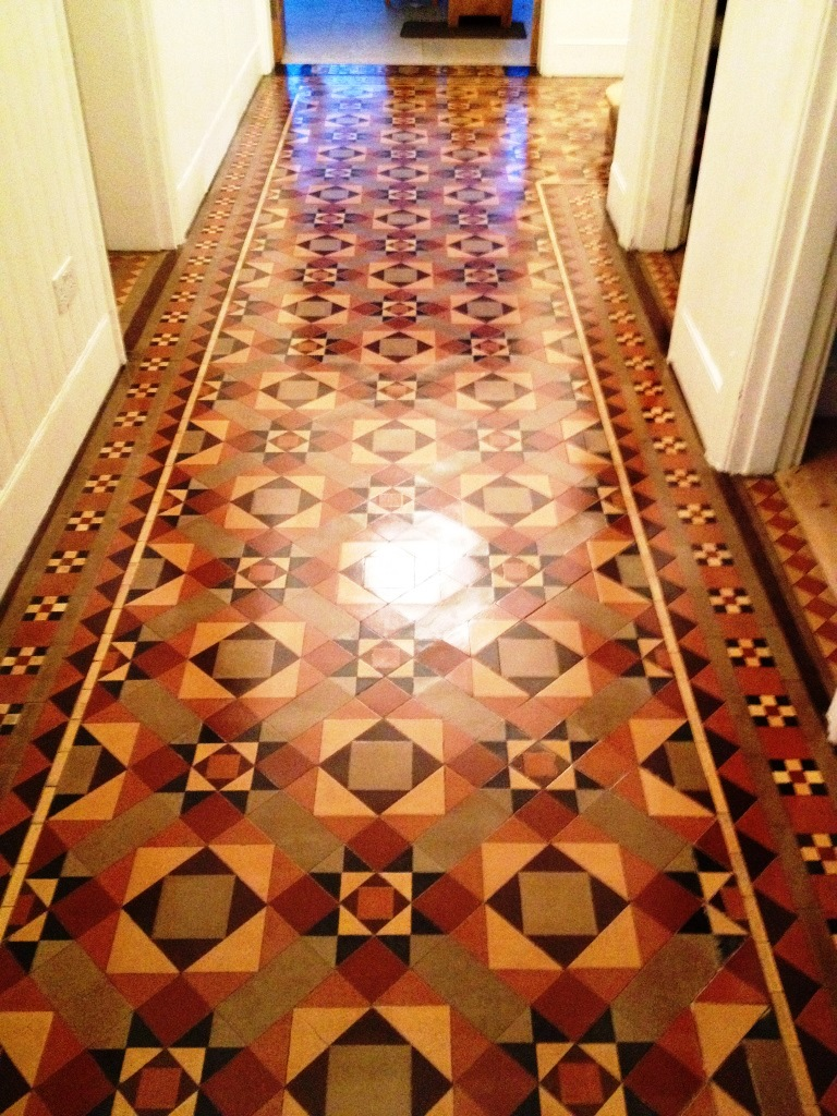 Victorian Tiled Floor Oxford After Cleaning
