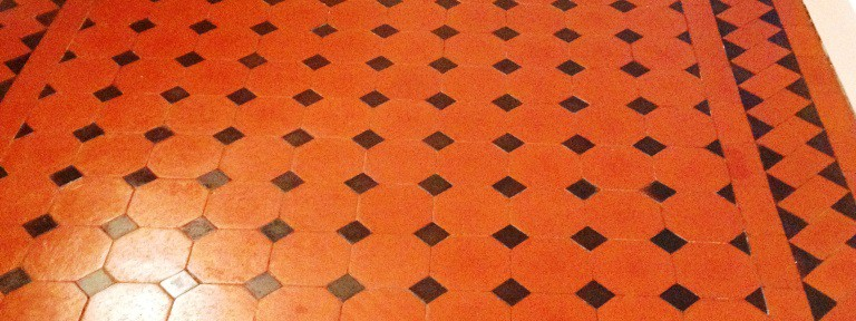 Victorian Tiled Floor Refurbished in Farringdon