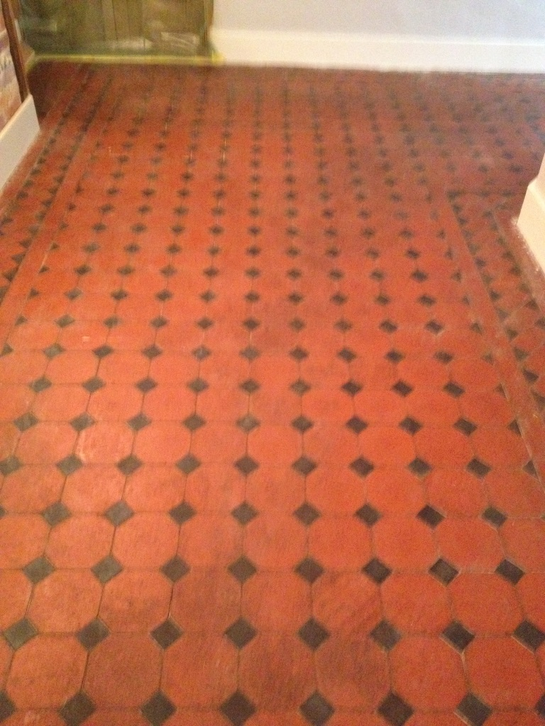 Victorian Tiles Before Refurbishment in Farringdon