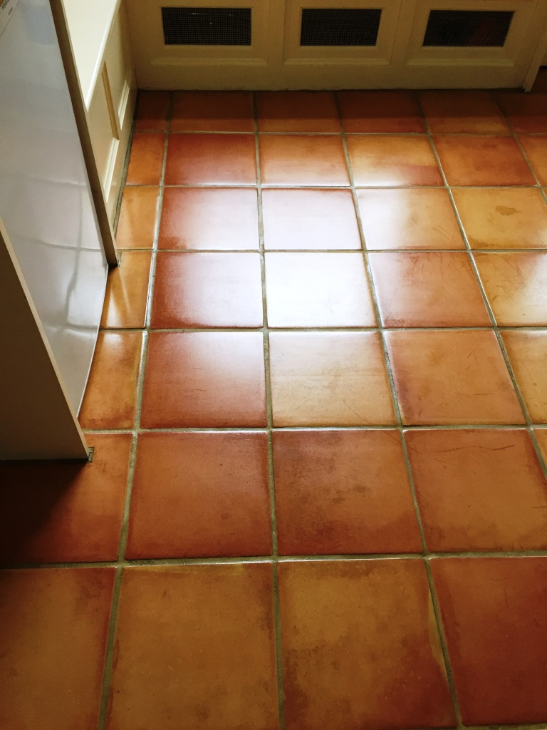 Terracotta Tiled Floor After Cleaning Oxford