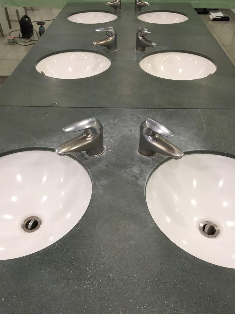 Marble Bathroom Worktop Abingdon Before