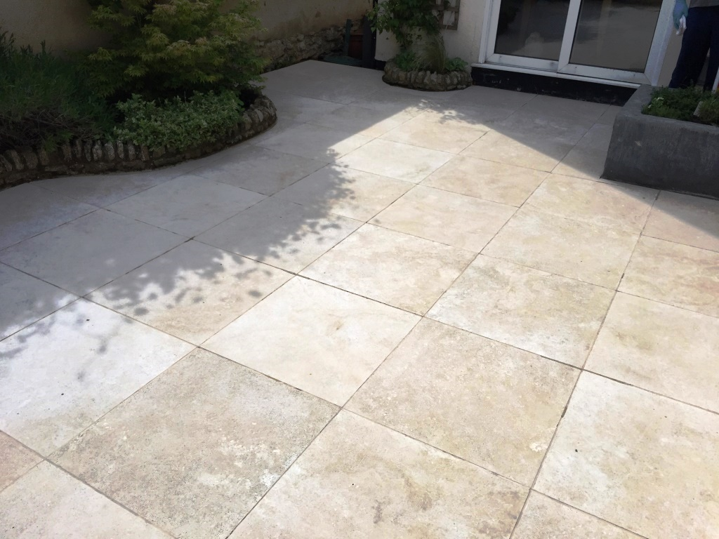 High Quality Limestone Patio After Cleaning Haddenham
