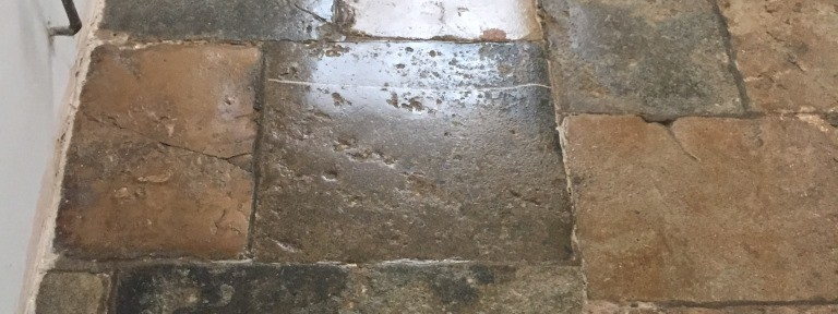 300-year old Flagstone floor restored in Bicester