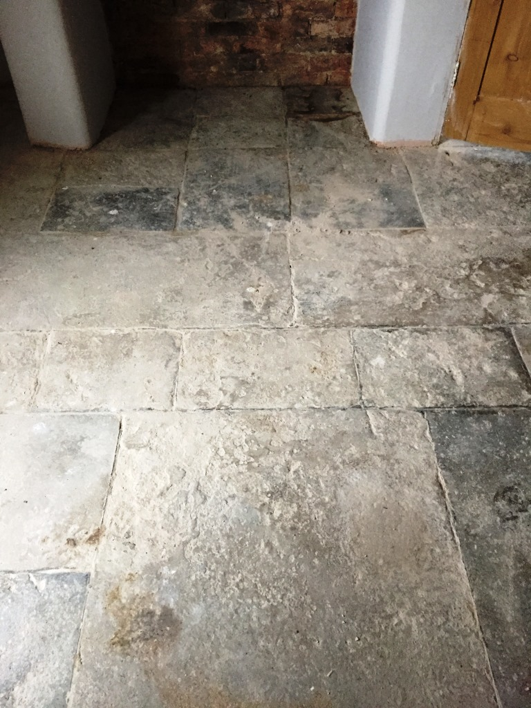 300 Year Old Flagstone Floor Restored In Bicester