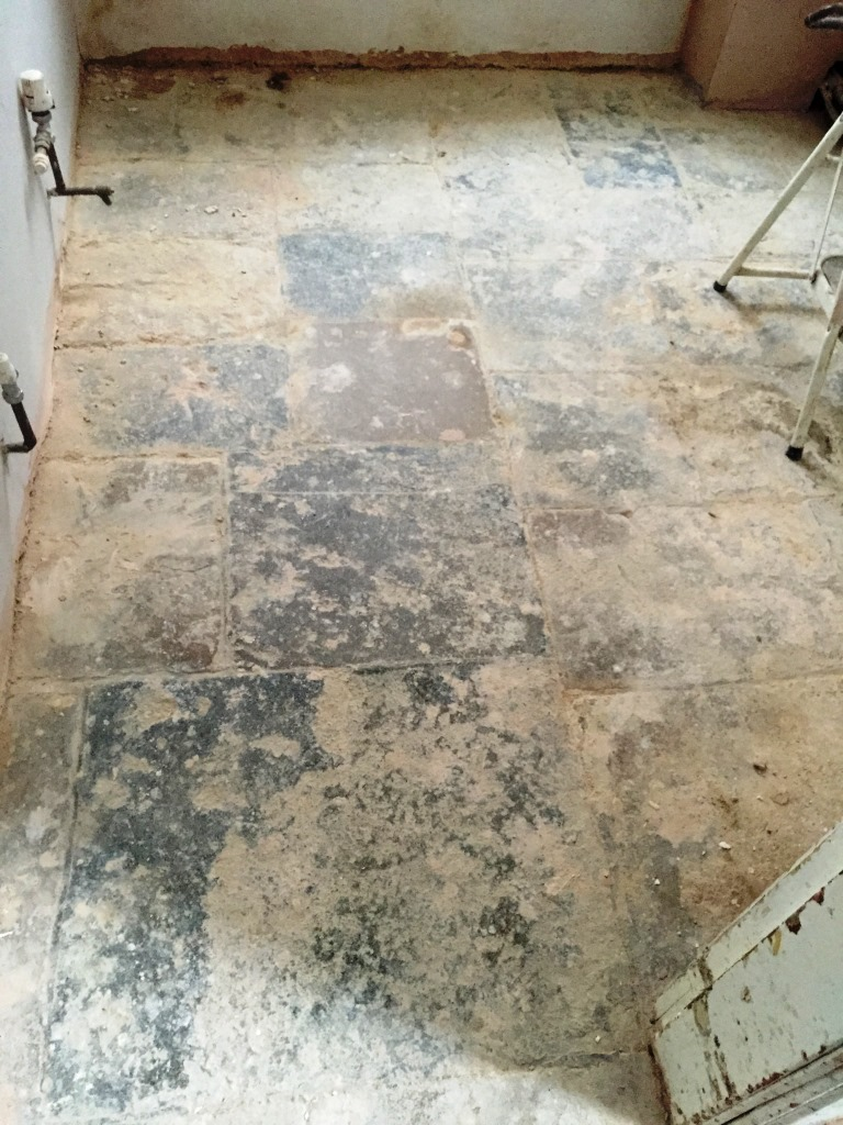 Cleaning And Restoring The Earance Of An Old Flagstone Floor