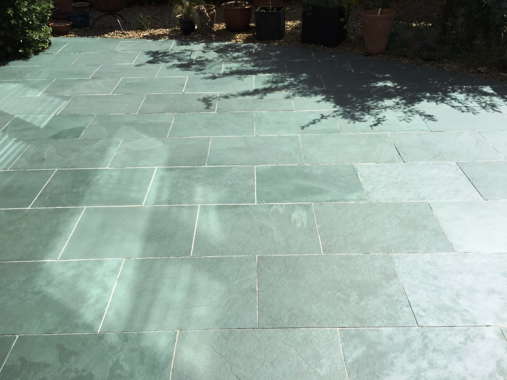 Restoring the Appearance of a Slate Patio | Stone Cleaning ...