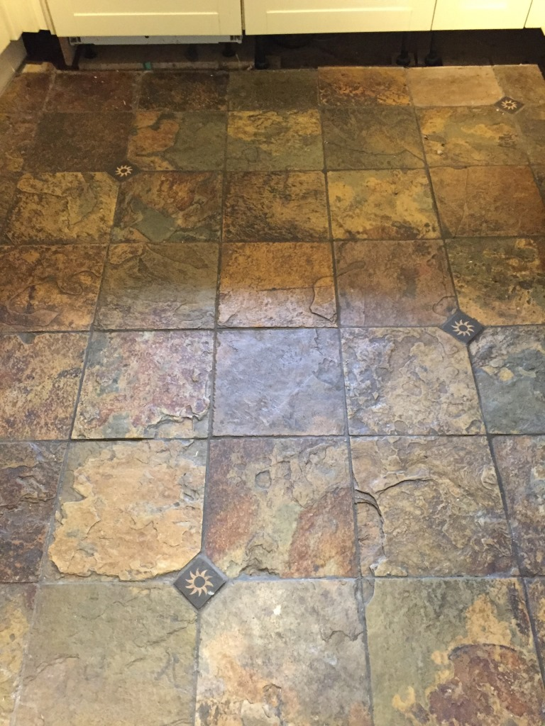 Tile cleaning stone cleaning and polishing tips for slate floors multi coloured slate before cleaning woodstock dailygadgetfo Gallery
