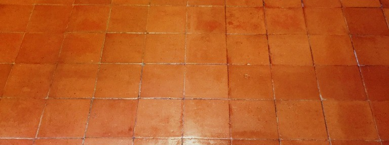 Quarry Tiled Kitchen Floor Deep Cleaned and Sealed in Milton