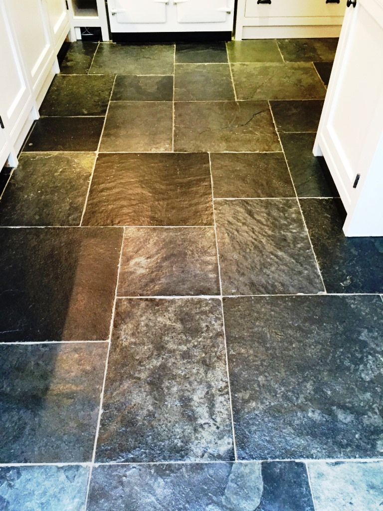Slate Tiled Floor After Cleaning Henley-on-Thames
