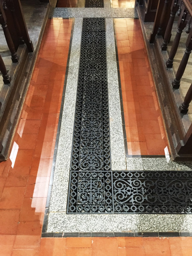 12th Century Church Tiled Floor Wantage After Renovation