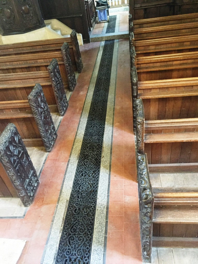 12th Century Church Tiled Floor Wantage Before Renovation