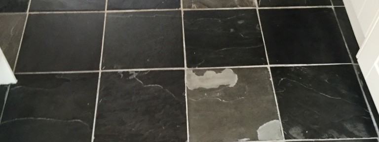 Dull Slate Tiled Kitchen Floor Refreshed in Oxford