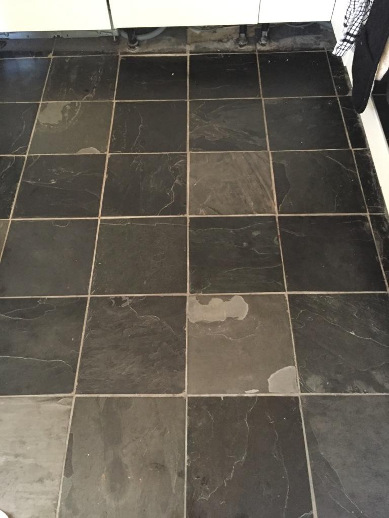 Slate Floor Tiles before refresh Oxford