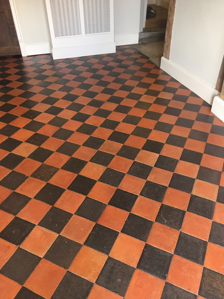 Quarry Tiled Floor After Cleaning Thame