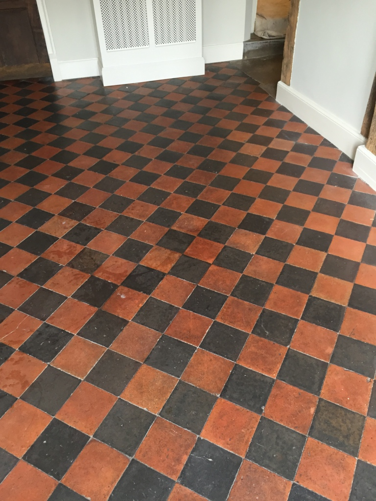 Quarry Tiled Floor Before Cleaning Thame