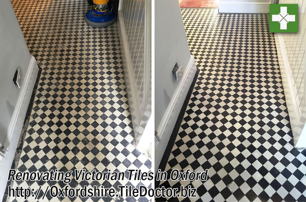 Renovating Dull and Dirty Victorian Tiles in Oxford