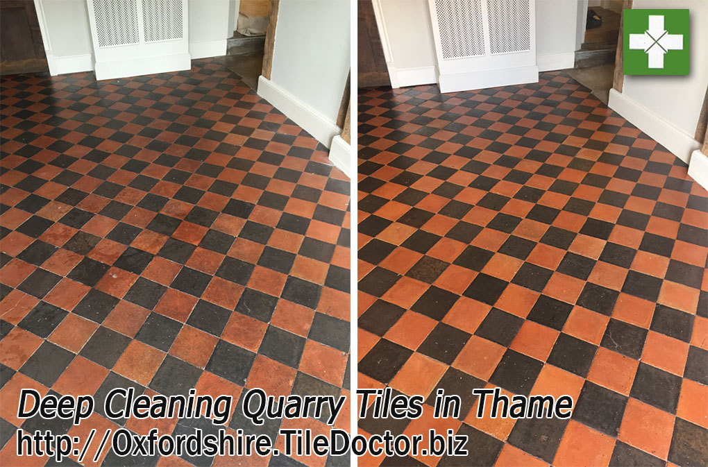 Restoring Dull and Dirty Quarry Tiles in Thame