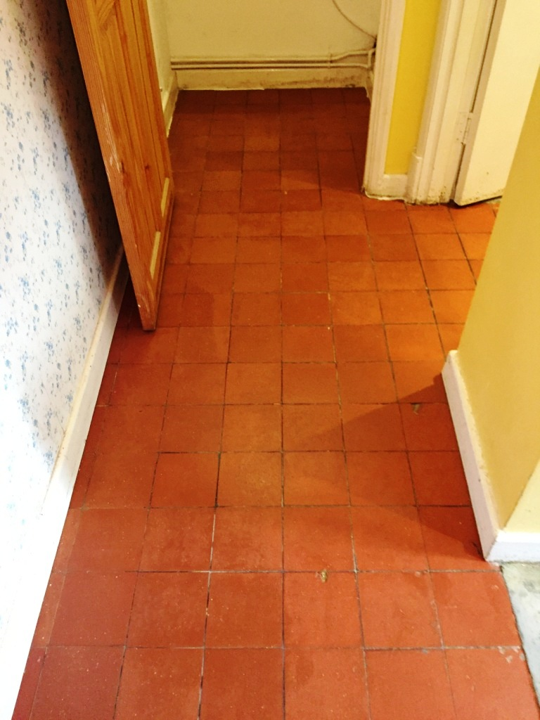 Quarry Tiled Floor Oxford After Restoration