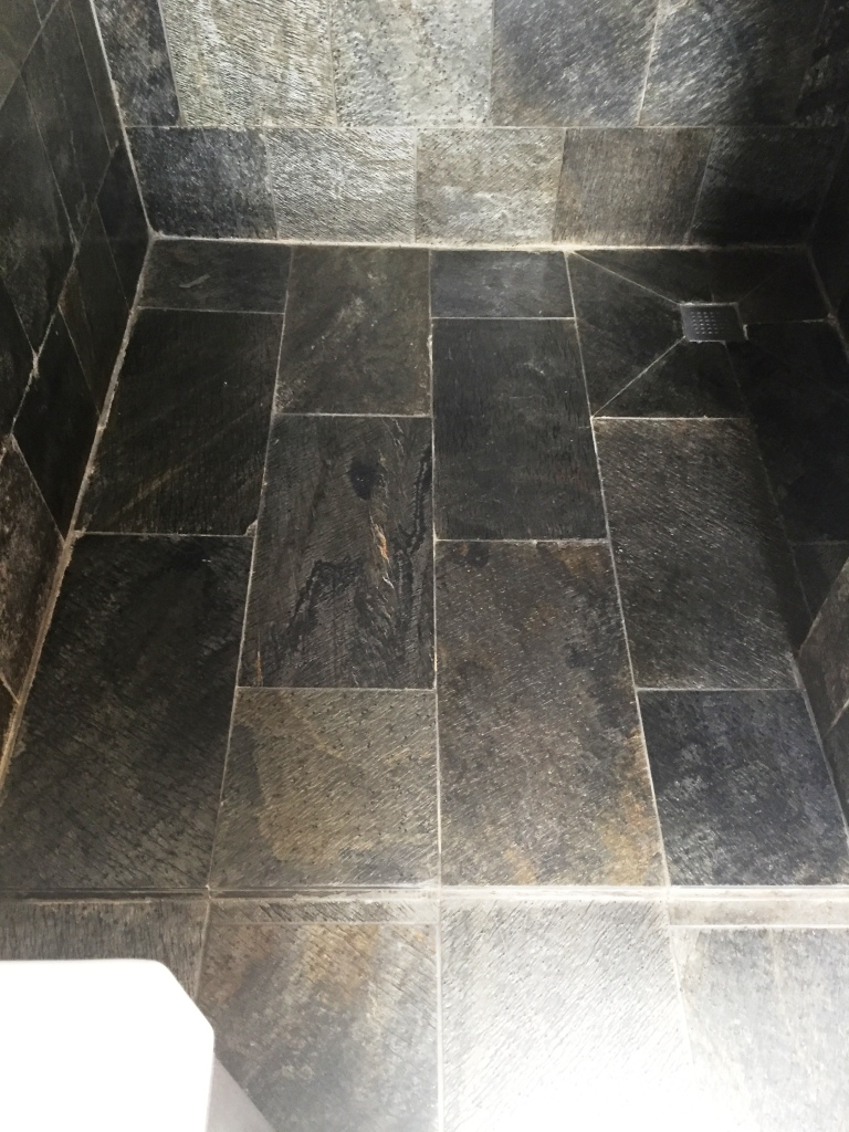 Slate Tiled Shower in Wantage After Cleaning and Sealing