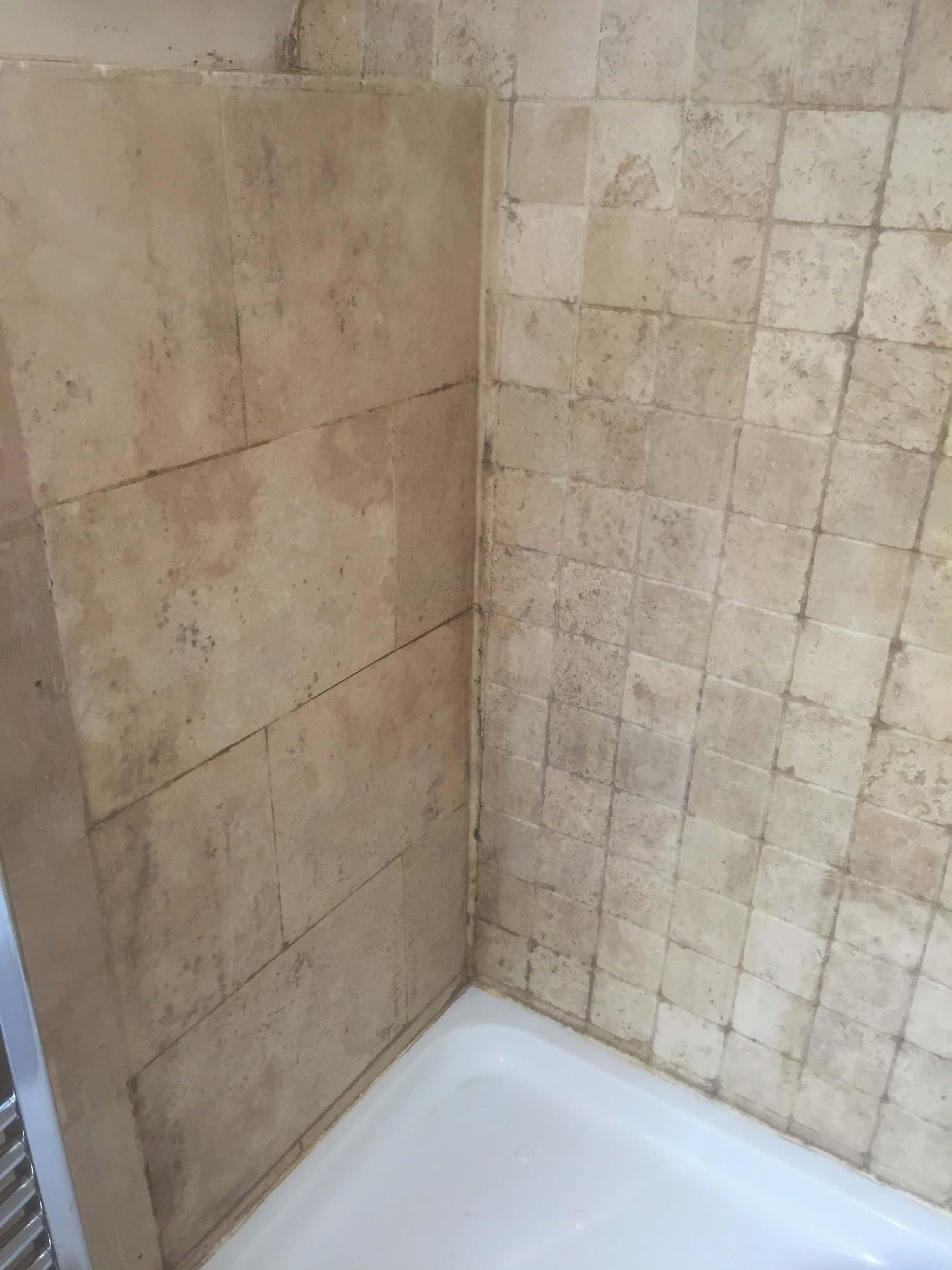 Restoring A Travertine Tiled Shower In