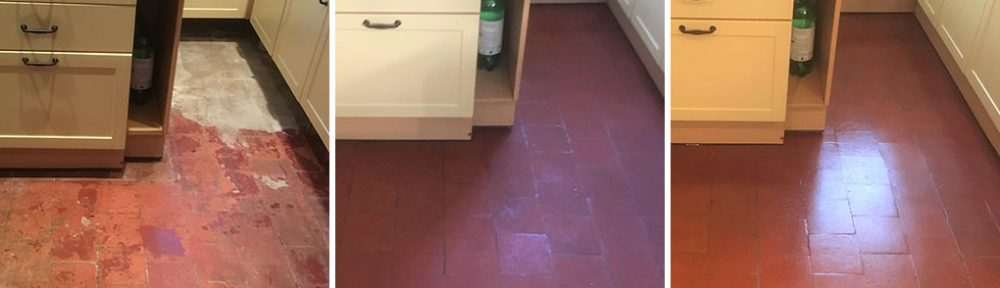 Quarry Tiled Kitchen Floor, Old Marston