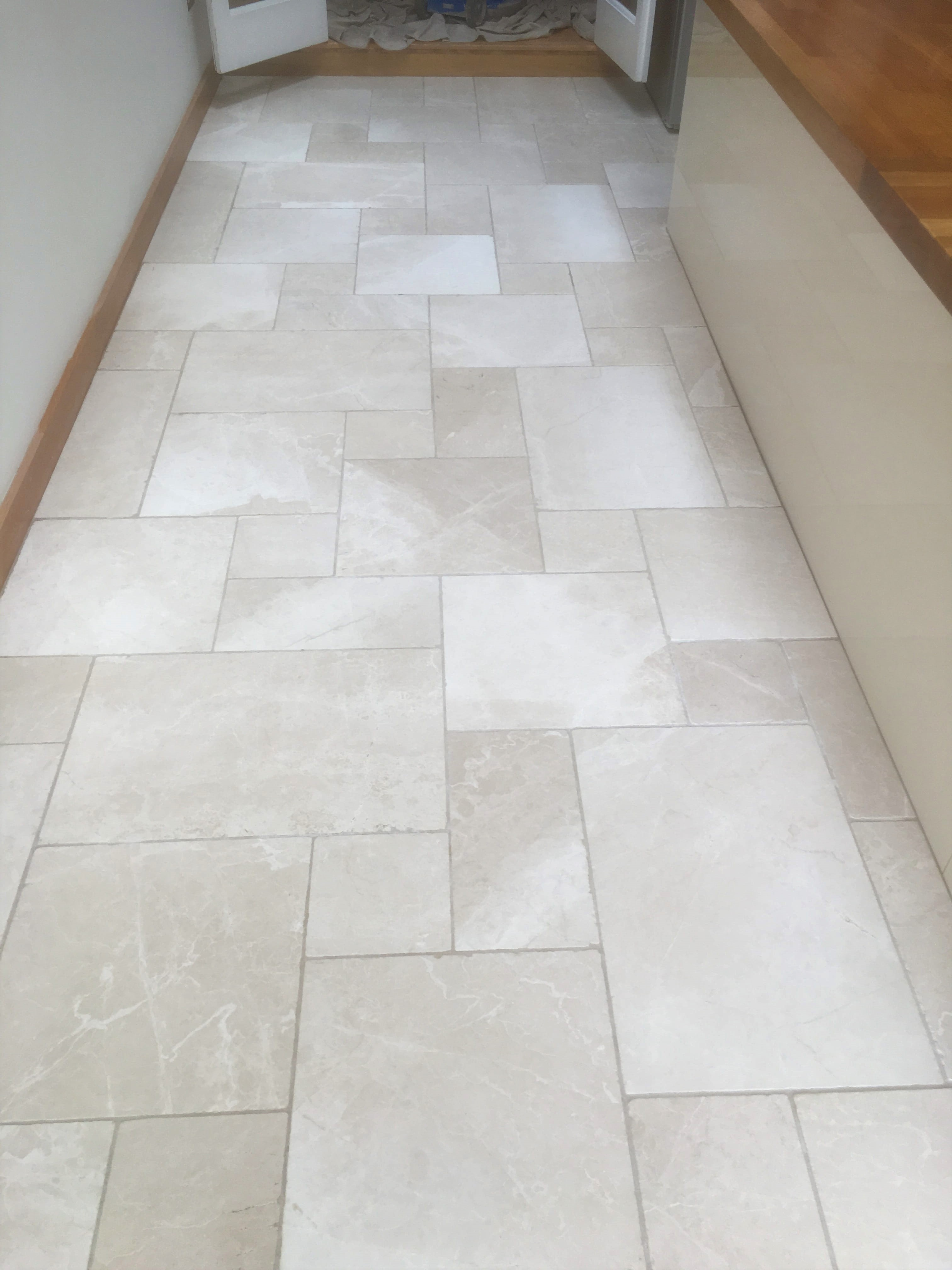 Tumbled Marble Floor After Cleaning Oxford