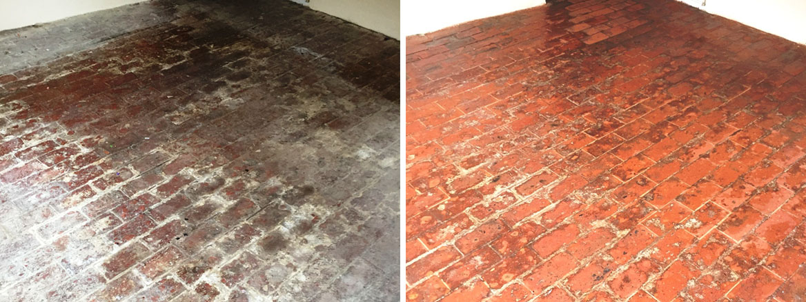 100 Year Old Brick Floor Before After Cleaning