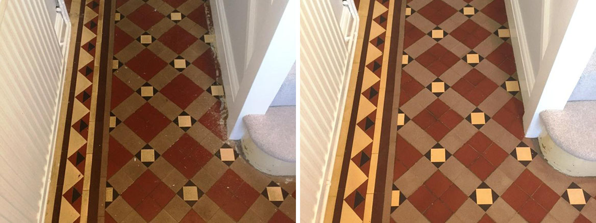 Refreshing a Victorian Tiled floor in Oxford