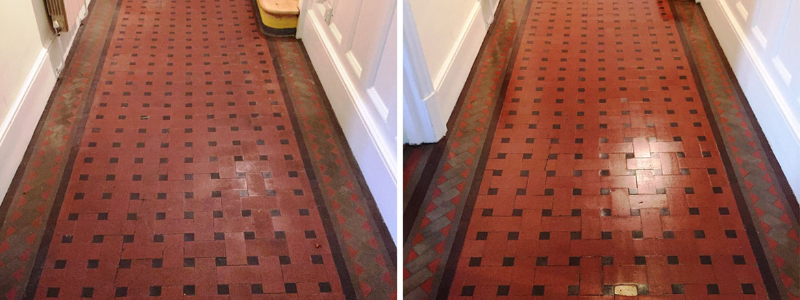 Deep Clean and fresh Seal for Victorian tiled floor in Oxford