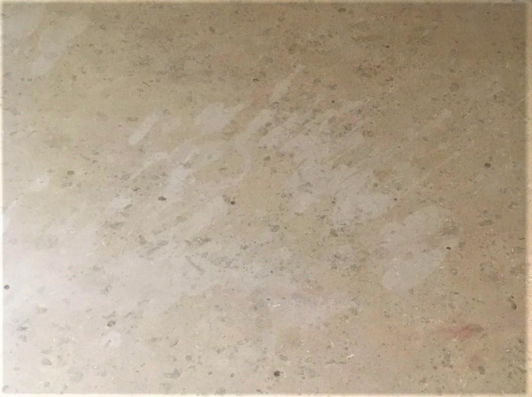 Damaged Marble Vanity Countertop Before Restoration Oxford Enlarged