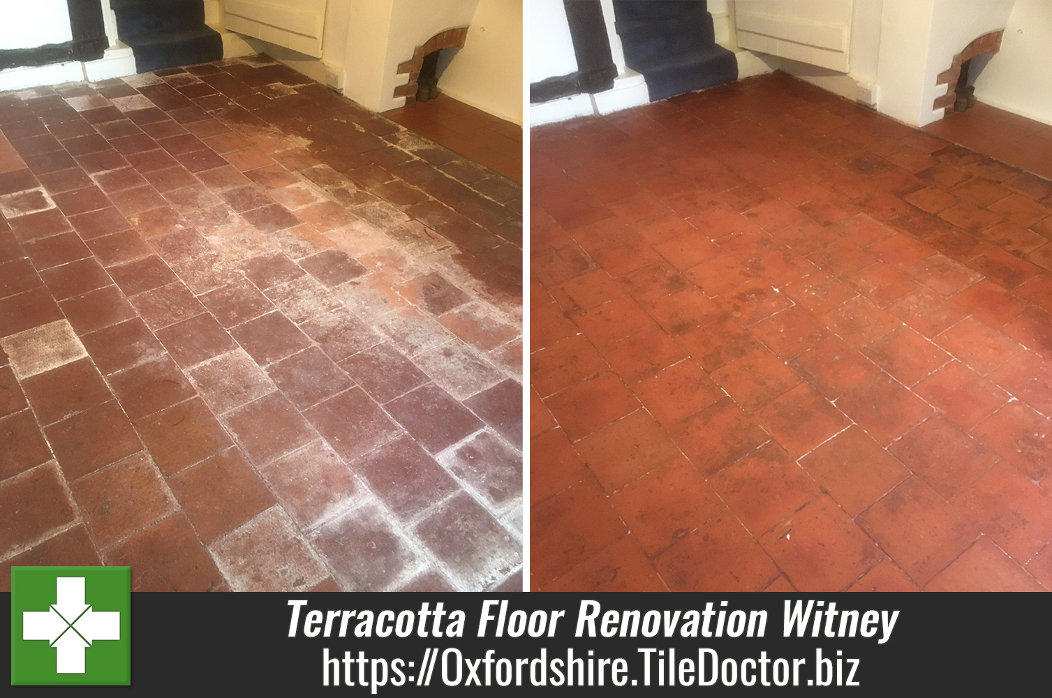 Cleaning and Sealing a Terracotta Tiled Floor in Witney