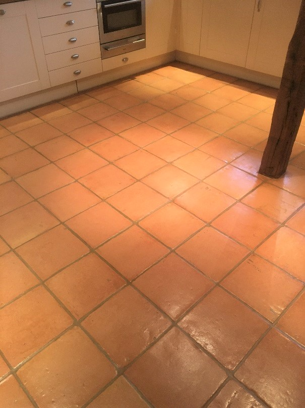 Terracotta Tiled Floor After Cleaning Abingdon